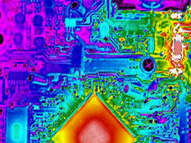 Heat map of semiconductor