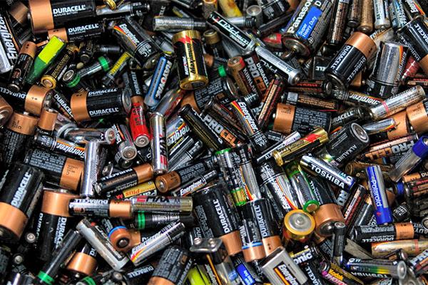 Array of dead batteries