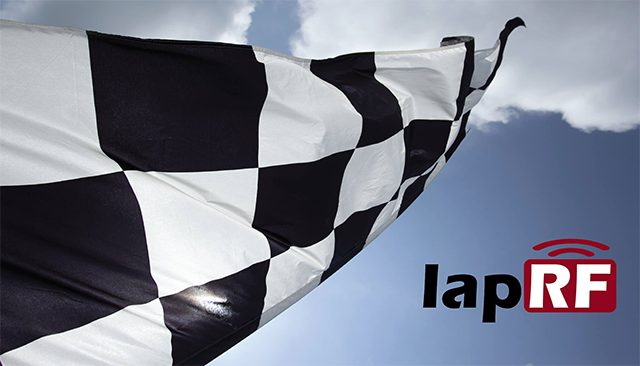 lapRF Logo on chequered flag