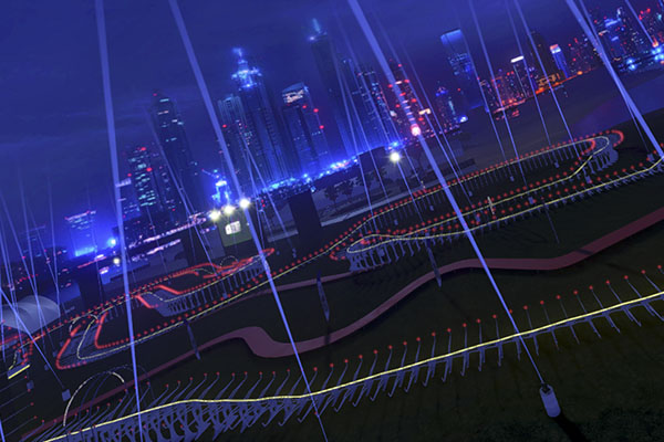 Dubai World Drone Prix circuit from Liftoff Simulator